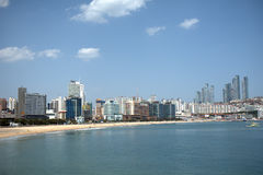 Haeundae Beach, Busan, Korean Republic Stock Photos