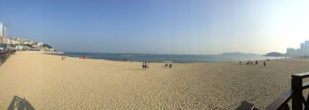 Haeundae strand i Busan arkivfoto