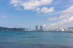 HaeUnDae strand på Busan i Korea Arkivbild