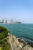 Haeundae strandsikt Arkivfoto