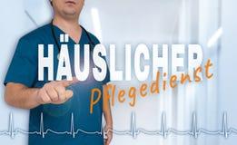 Haeuslicher Pflegedienst & x28; 在德国国内医疗service& x29; 免版税库存照片