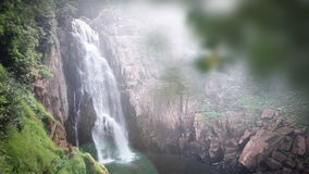 Haew Na Lok waterfall, Khao Yai, Thailand stock video footage