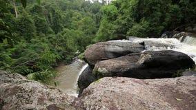 Haew Su Wat Waterfall, Khao Yai National park, Thailand. stock video