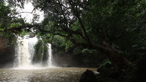 Haew Su Wat Waterfall tropical forest, Khao Yai National park. Haew Su Wat Waterfall tropical forest, Khao Yai National park, Thailand stock footage