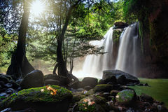Haew Suwat Wasserfall Lizenzfreies Stockbild