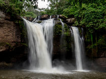 Haew Suwat Wasserfall Stockbild