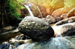 Haew-suwat Wasserfall @ Kao Yai stockbild