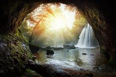 Haew suwat waterfalls in khao yai national park north eastern th Royalty Free Stock Photos