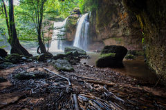 Haew suwat waterfalls in khao yai national park north eastern th Stock Photos