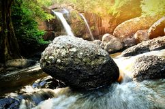 Haew suwat waterval @ Kao Yai stock afbeelding