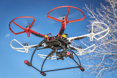 Hexacopter drone flying Stock Images