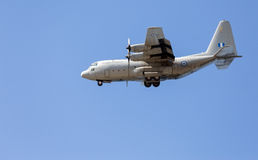 HAF Alenia C-27J Spartan medium-sized transport aircraft in flight Royalty Free Stock Photo