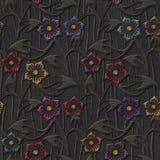 Hafciarska tkanina kwitnie bezszwową teksturę royalty ilustracja