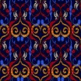 Hafciarski Barokowy bezszwowy wzór Rocznika baroku wektorowy plecy Fotografia Royalty Free