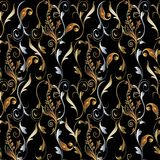 Hafciarski kolorowy kwiecisty bezszwowy wzór Makata wektoru bac Obraz Royalty Free