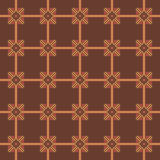 Hafciarski prosty bezszwowy wzór w brown brzmieniach Obraz Royalty Free