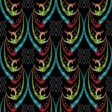 Hafciarski wektorowy bezszwowy wzór Kolorowa makaty ręka rysująca Fotografia Royalty Free