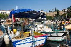 Hafen in Antalya Stockbilder