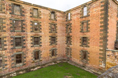 Hafen Arthur Historic Site: Das Gefängnis lizenzfreie stockbilder