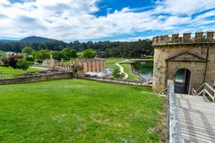 Hafen Arthur Historic Site - Tasmanien - Australien lizenzfreies stockbild