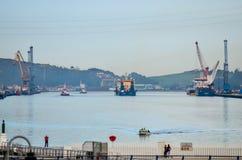 Hafen Aviles Stockbilder