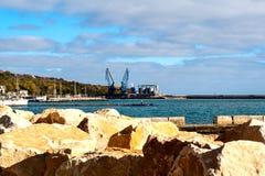 Hafen Balchik Stockbild