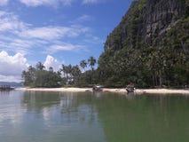 Hafen-Barton-Strand, die Philippinen stockbild