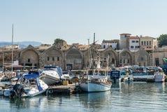 Hafen bei Arsenali Chania Kreta Lizenzfreies Stockfoto