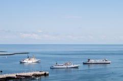 Hafen bei Helgoland Stockfotos