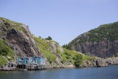 Hafen bei Quidi Vidi, Neufundland lizenzfreie stockfotografie