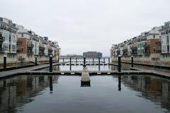 Hafen-Bereich fällt herein Punkt in Baltimore, Maryland lizenzfreie stockfotografie