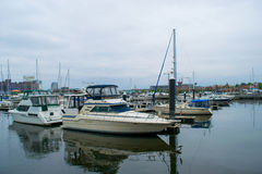 Hafen-Bereich fällt herein Punkt in Baltimore, Maryland lizenzfreie stockbilder