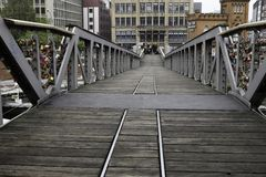 Hafen-Brücke in Hamburg Lizenzfreies Stockfoto