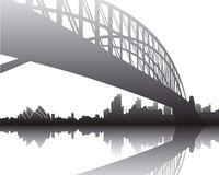 Hafen-Brücke, Sydney Stockfotografie