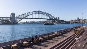 Hafen-Brücke in Sydney Stockfotos