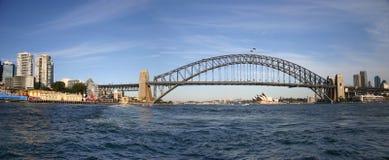 Hafen-Brücken-Panorama Stockfoto