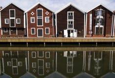 Hafen bringt Hudiksvall unter Stockfotografie