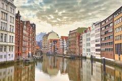 Hafen City in Hamburg Speicherstadt. Street view of Hamburg, Germany Stock Image