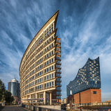 The Hafen City quarter and Elbe Philharmonic Hall in Hamburg Royalty Free Stock Images