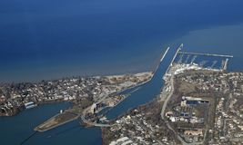 Hafen Dalhousie-Antenne stockbilder
