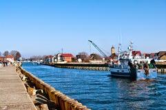 Hafen Darlowo in Polen lizenzfreie stockbilder