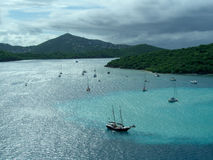 Hafen in den Bahamas Lizenzfreies Stockfoto