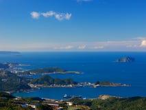 Hafen der Fisch-Fanzai-AO, Ruifang, neues Taipeh, Taiwan stockbild