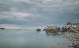 Hafen der Küstenstadt in Wales Stockfotografie