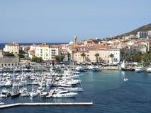 Hafen der Stadt von Ajaccio Stockfoto