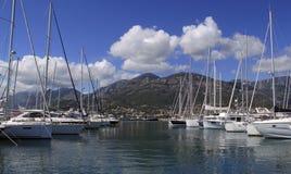 Hafen der Stange Montenegro Stockfoto