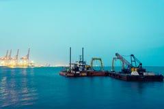 Hafen der Türkei Mersin, Sommer im Jahre 2018 glättend stockbild