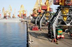 Hafen des Handelskanals Stockfotografie