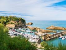 Hafen-DES Pecheurs in Biarritz, Baskenland lizenzfreie stockfotos