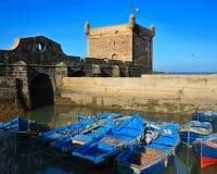 Hafen in Essaouira Stockfotografie